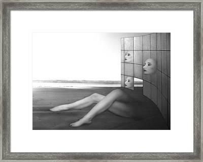 Desolate - Self Portrait Framed Print by Jaeda DeWalt