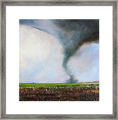 Desolate Tornado Framed Print by Toni Grote
