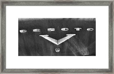 Desoto 2 Framed Print by Audrey Venute