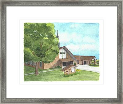 De Soto Baptist Church Framed Print