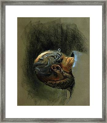 Despair. Why Are You Downcast? Framed Print