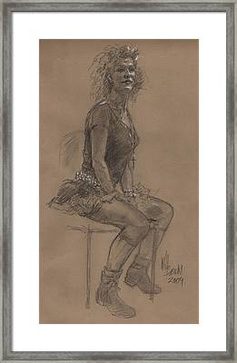 Desperately Seeking Dr Sketchy Framed Print by Will Brown
