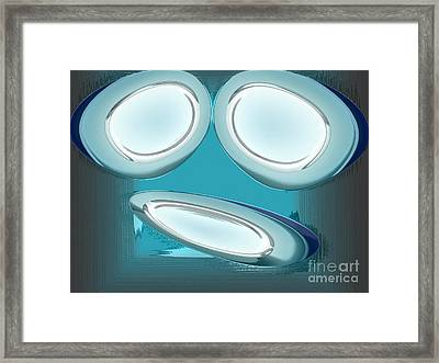 Desperation In Blue Framed Print by Patrick Guidato
