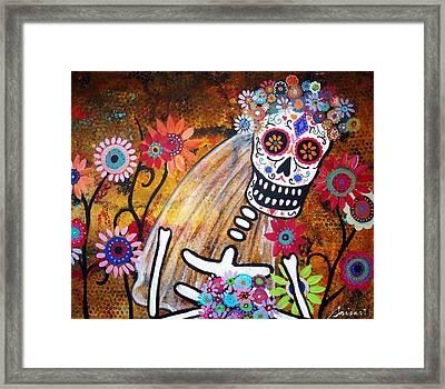 Framed Print featuring the painting Desposada by Pristine Cartera Turkus