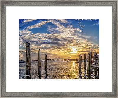Destin Harbor #1 Framed Print