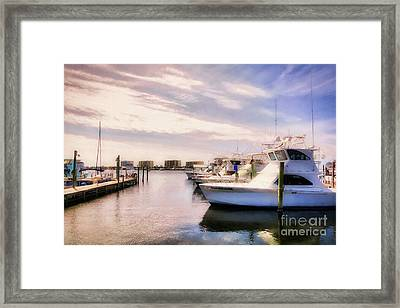 Framed Print featuring the photograph Destin Harbor Daydreams by Mel Steinhauer
