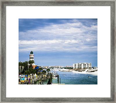 Destin Harbor  Framed Print