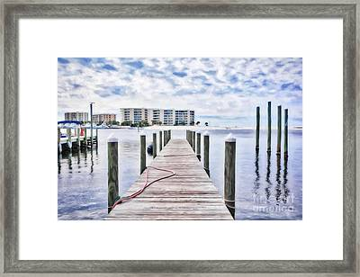 Framed Print featuring the photograph Destin Harbor Marina # 2 by Mel Steinhauer