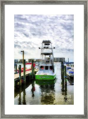 Framed Print featuring the photograph Destin Harbor Marina by Mel Steinhauer