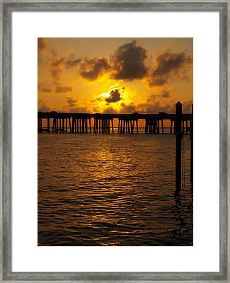 Destin Harbor Sunset 1 Framed Print by James Granberry