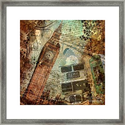 Destination London Framed Print by Mindy Sommers