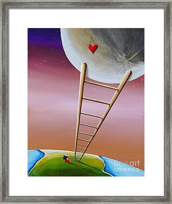 Destination Moon Framed Print by Cindy Thornton