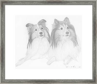 Destiny And Ziva Framed Print