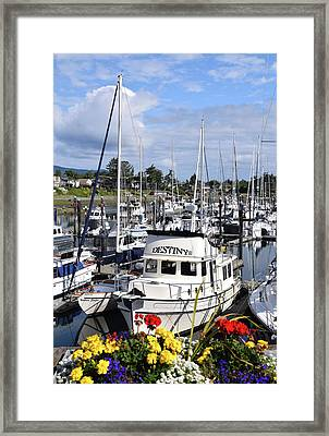 Destiny Sidney Harbor British Columbia Canada Framed Print by Barbara Snyder
