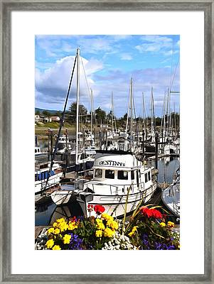 Destiny Sidney Harbor British Columbia Canada Painting Framed Print by Barbara Snyder