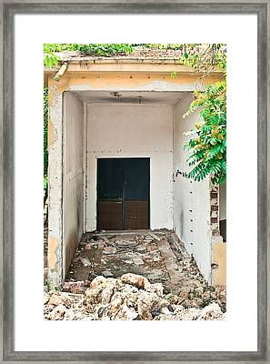 Destroyed Building Framed Print by Tom Gowanlock