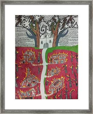 Destruction Of Oak Park Framed Print