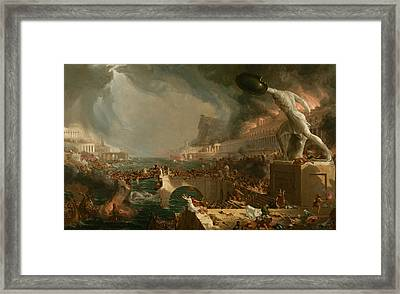 Destruction  Framed Print by Thomas Cole