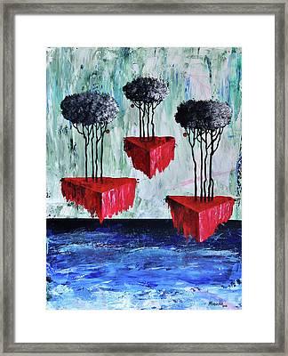 Desvanece En El Mar La Tierra Viva Framed Print