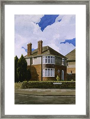 Detached Framed Print by Andrew Crane