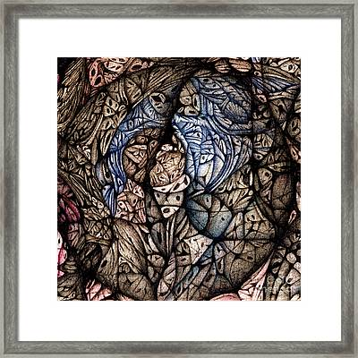 Framed Print featuring the drawing detail Circuler VIII  continuum II by Jack Dillhunt