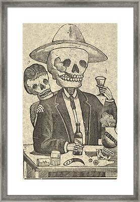 Detail From Calavera Tapatia Framed Print by Everett