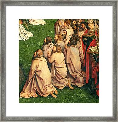 Detail From The Adoration Of The Mystic Lamb Framed Print