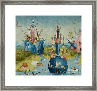 Detail From The Garden Of Earthly Delights  Central Panel Framed Print by Hieronymus Bosch