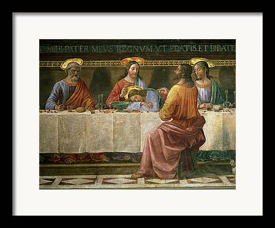 Italian Meal Paintings Framed Prints