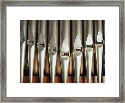 Detail Of A Pipe Organ Framed Print by Gregor Hohenberg