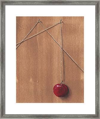 Detail Of Balanced Temptation. Framed Print