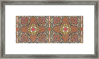 Detail Of Ceiling Arabesques From The Mosque Of El-bordeyny Framed Print