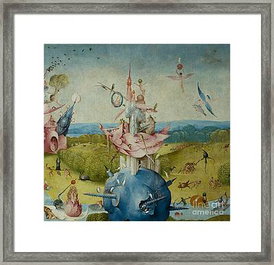 Detail Of Central Panel From  Framed Print by Hieronymus Bosch