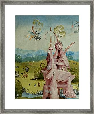 Detail Of Central Panel  The Garden Of Earthly Delights Framed Print