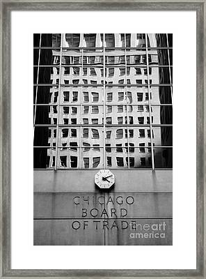 Detail Of Chicago Board Of Trade Building Framed Print by Lane Erickson