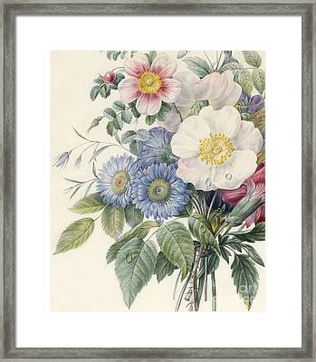 Detail Of Flowers Framed Print by  Eugene A L d'Orleans