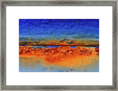 Detail Of Rust On Boats In Rungsted Havn / Harbor Framed Print