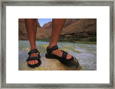 Detail Of Sandals And Feet In The Grand Framed Print by Bobby Model