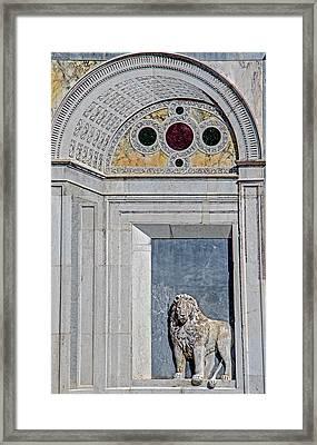 Detail Of Scuola Grande Di San Marco Framed Print by Jean Haynes
