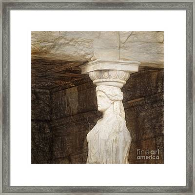 The Caryatid Porch Of The Erechtheion Framed Print