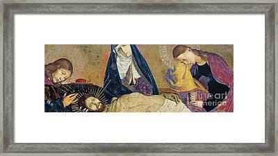 Detail Of The Avignon Pieta Framed Print