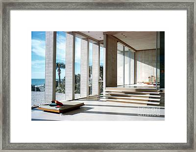 Detail Of The Deering House By Architect Paul Rudolph Framed Print by The Harrington Collection