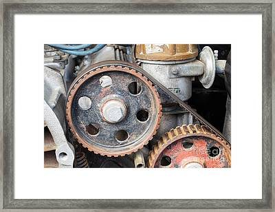 Detail Of The Old Engine Framed Print by Michal Boubin
