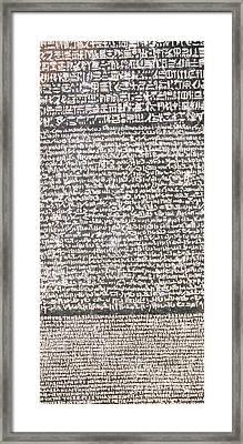 Detail Of The Rosetta Stone Framed Print