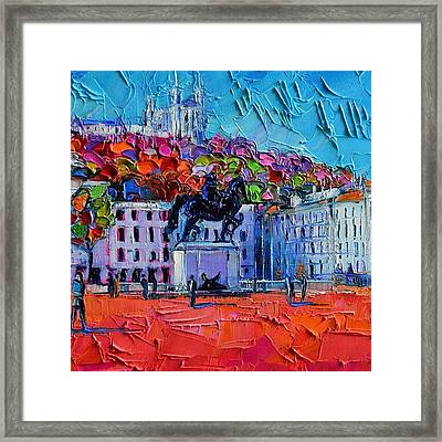 Detail Of Urban Impression - Place Framed Print by Mona Edulesco