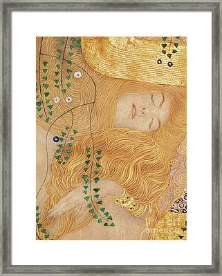 Detail Of Water Serpents I Framed Print by Gustav Klimt
