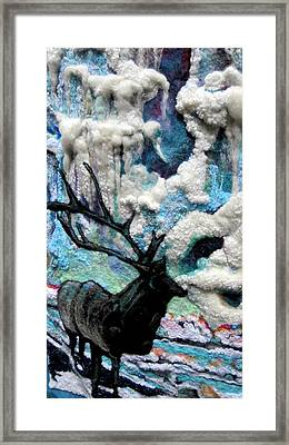 Detail Of Winter Framed Print by Kimberly Simon