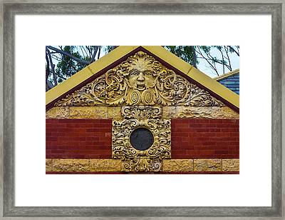 Detail San Luis Obispo Carnegie Library Framed Print by Garry Gay