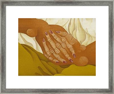Detailed  The Hands  The Seated Gipsy  2009 Framed Print by S A C H A -  Circulism Technique