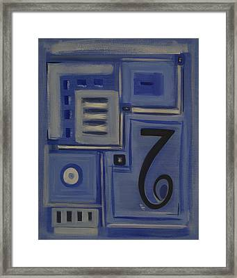 Details In Blue Framed Print by Sandy Bostelman